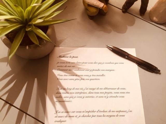 lettre a madame la peur
